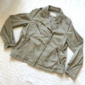Banana republic tan utility moto jacket/ L